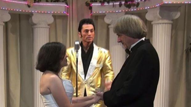 David and Louise Turpin renewed their wedding vows in  Las Vegas. Pic: Elvis Chapel