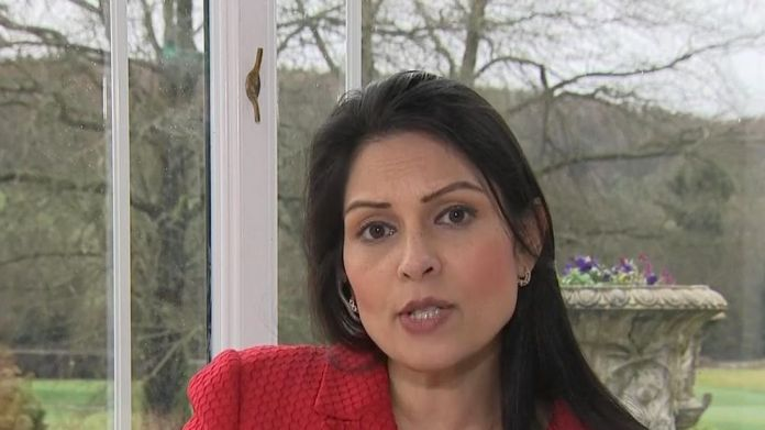 Priti Patel says the chief executive of Oxfam should resign Internal Oxfam report found suspects threatened Haiti abuse witnesses Internal Oxfam report found suspects threatened Haiti abuse witnesses skynews priti patel oxfam 4231073
