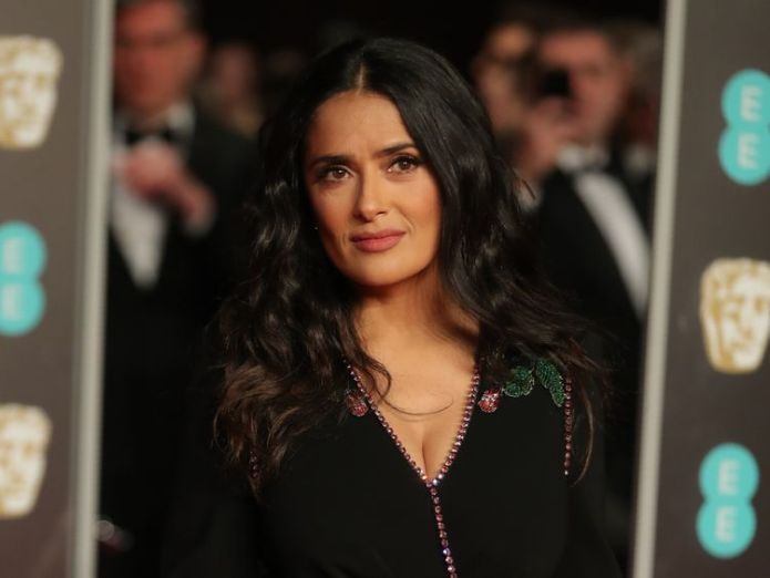 Salma Hayek is an advocate of women's rights BAFTA Awards go black for Time's Up and #MeToo BAFTA Awards go black for Time's Up and #MeToo skynews bafta salma hayek times up 4234859