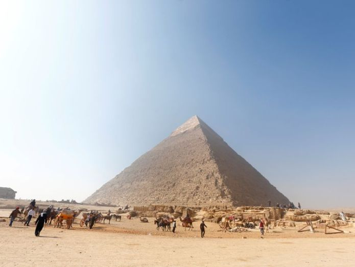 The monuments at Giza are 4,500-years-old Mystery behind the Giza pyramids' near-perfect alignment possibly unravelled Mystery behind the Giza pyramids' near-perfect alignment possibly unravelled skynews giza pyramids 4236773