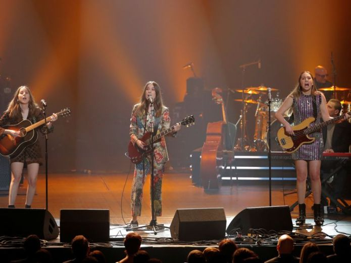 US group Haim say they have experienced sexism from the start of their careers Haim fired agent over 'insane' pay gap at festival Haim fired agent over 'insane' pay gap at festival skynews haim musicares radio city music hall 4236487