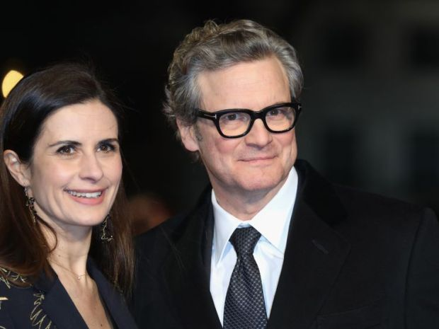 Livia Firth with husband Colin Firth