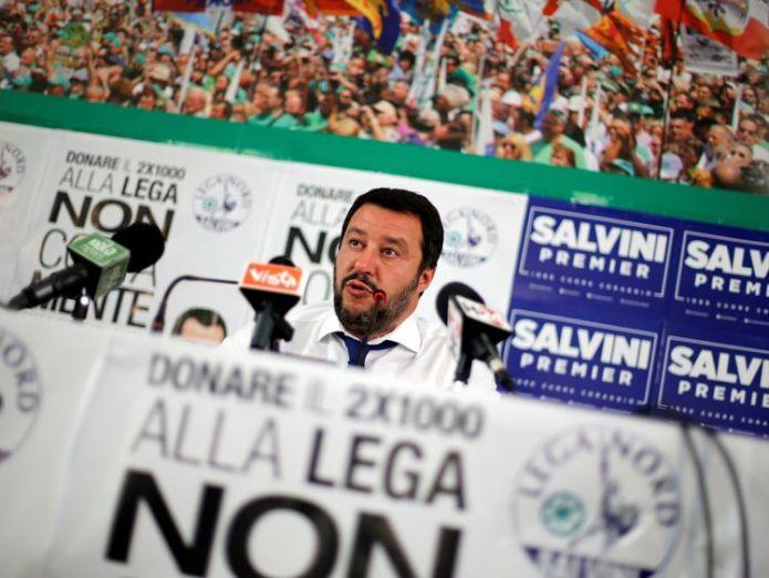 Matteo Salvini voters go to the polls Voters go to the polls skynews matteo salvini northern league 4237980