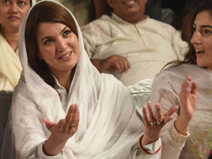 Imran Khan's second wife, Reham Khan, pictured during his campaign for a seat in the National Assembly in 2015 Cricketer turned politician marries Bushra Maneka Cricketer turned politician marries Bushra Maneka skynews reham khan pakistan 4235641