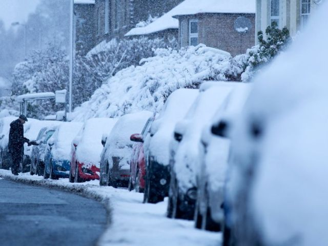 Heavy snow fell in Edinburgh last month