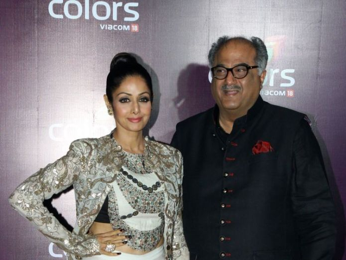 Sridevi (L) with her husband Boney Kapoor in 2015 First female Bollywood superstar Sridevi dies aged 54 First female Bollywood superstar Sridevi dies aged 54 skynews sridevi boney kapoor 4240330