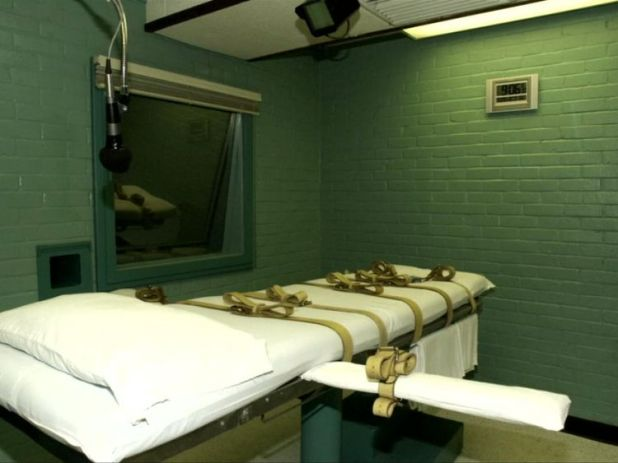 The execution bed in Texas