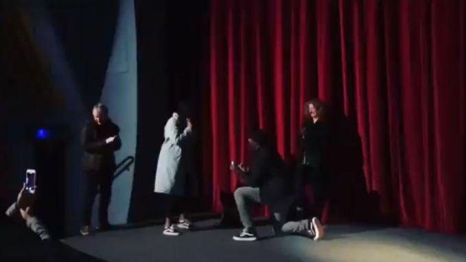 Idris Elba down on one knee. Pic: David Marsden-Sainou