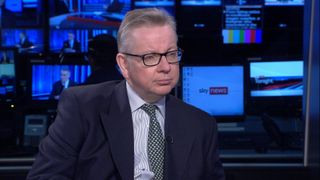 Michael Gove MP Environment Sec talks about Sky's Ocean Rescue campaign to introduce bottle deposit return scheme  team sky backs ocean rescue ahead of tour de france with new kit Team Sky backs Ocean Rescue ahead of Tour de France with new kit skynews gove plastic ocean rescue 4266405
