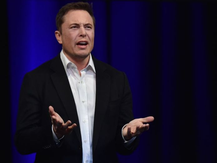 Elon Musk speaking at news conference in LA Elon Musk says Tesla will be 'thoroughly reorganised' Elon Musk says Tesla will be 'thoroughly reorganised' skynews elon musk tesla 4261762