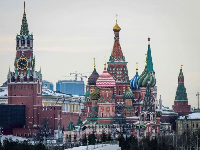 The Kremlin, St Basil's Cathedral and the Zaryadye Park in Moscow vladimir putin has been sworn in as russian president Vladimir Putin has been sworn in as Russian president skynews kremlin moscow russia 4257813