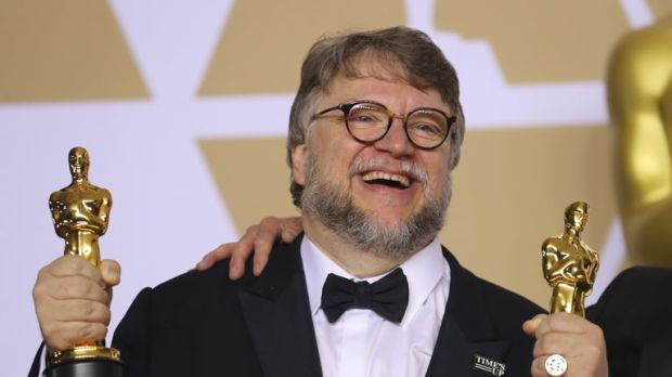 "Guillermo del Toro with the Best Director Award and the Best Picture Award for ""The Shape of Water"""