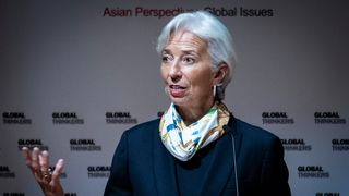 Managing Director of the International Monetary Fund (IMF) Christine Lagarde  Economic growth 'boosted in part by warm weather' christine lagarde imf sky news 4279814