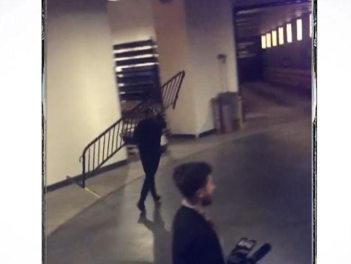 Conor McGregor is seen hauling a temporary barrier into a bus. Pic: Felice Herrig/Instagram  UFC star Conor McGregor pleads guilty over New York brawl skynews conor mcgregor new york 4274532