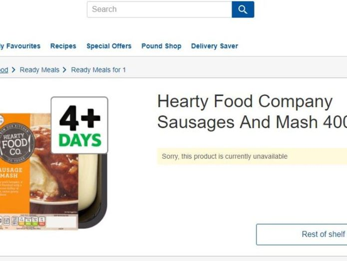 Batches of Hearty Food Company Sausages and Mash have been recalled by Tesco
