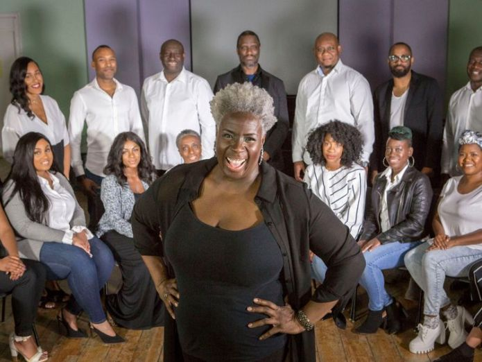 Karen Gibson and The Kingdom Choir will be performing at the wedding of Prince Harry and Meghan Markle   Royal wedding choir Kingdom sign Sony record deal skynews karen gibson the kingdom choir 4291710
