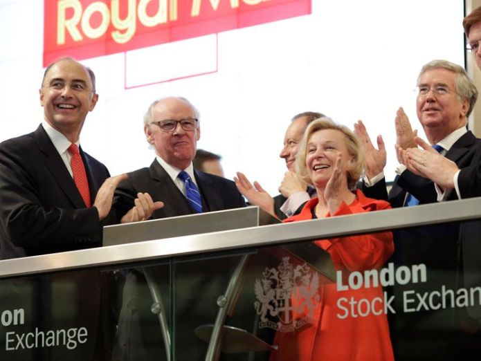 Moya Greene pictured at the Royal Mail's opening at the London Stock Exchange in October 2013 Royal Mail board hands 'secret' £6m payment to new chief Royal Mail board hands 'secret' £6m payment to new chief skynews moya greene royal mail 4277296