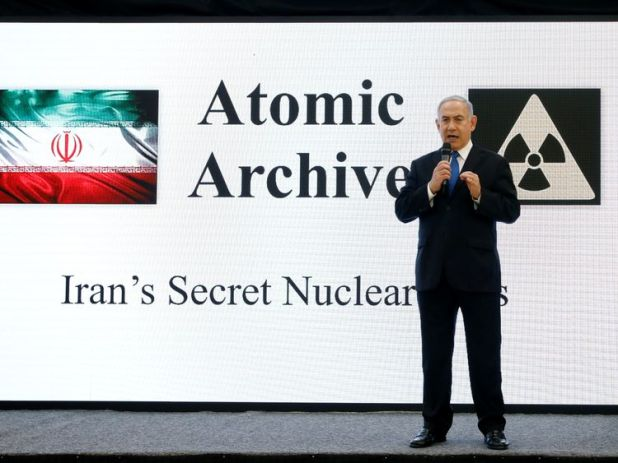 Israeli Prime minister Benjamin Netanyahu speaks during a news conference at the Ministry of Defence