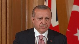 President Erdogan's question to the world - 'Side with the strong or side with the right?' Theresa May calls for independent inquiry into 'tragic' Gaza deaths Theresa May calls for independent inquiry into 'tragic' Gaza deaths skynews erdogan turkey president 4311133