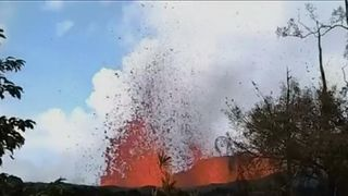 Lava destroys man's garden in Hawaii Super-hot lava threat for Hawaii as Trump declares disaster Super-hot lava threat for Hawaii as Trump declares disaster skynews lava hawaii garden 4303710