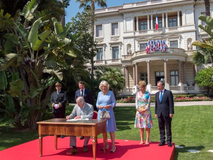 The Prince of Wales and Duchess of Cornwall sign the visitors book the Villa Massena, in Nice, France prince charles and camilla pay moving tribute to nice terror attack victims Prince Charles and Camilla pay moving tribute to Nice terror attack victims skynews charles camilla royal 4303505