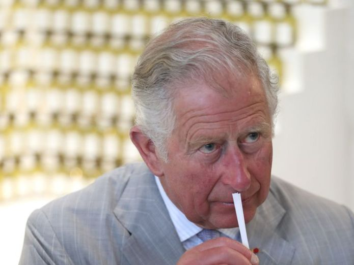 The Prince of Wales smells a sample of fragrance during a visit to the Fragonard Perfumery in Eze, France. prince charles and camilla pay moving tribute to nice terror attack victims Prince Charles and Camilla pay moving tribute to Nice terror attack victims skynews charles prince of wales 4303496