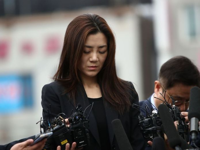 on May 1, 2018 in Seoul, South Korea. Police said that they will question Cho Hyun-min, Korean Air senior executive and younger daughter of the airline's chairman Cho Yang-ho as a suspect over allegations on assault and obstruction of business against airline's ad firm manager. Korean Air family in trouble again after 'nut rage' Korean Air family in trouble again after 'nut rage' skynews cho hyun min korea 4322565