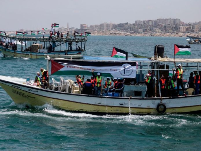 Boats carrying patients and students have set off to try to break Israel's blockade 'locked in' - the devastating effects of israel's gaza blockade 'Locked in' – The devastating effects of Israel's Gaza blockade skynews gaza israel boat 4323467