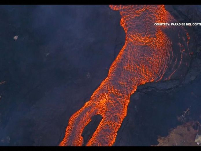 Hannah Thomas-Peter says the river of lava have become unstoppable Hawaiians watch lava eat their street in devastating slow motion Hawaiians watch lava eat their street in devastating slow motion skynews hawaii htp 4318571