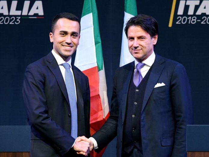 Luigi Di Maio appointed Mr Conte as a future minister Nerves as far-right League party set for office in Italy Nerves as far-right League party set for office in Italy skynews italy elections 4316485