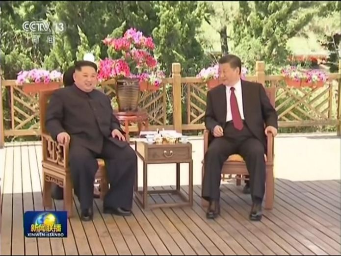 Kim Jong Un meets Xi Jinping June talks with North Korea could be back on June talks with North Korea could be back on skynews kim jong un xi jinping 4303935