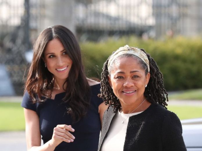 Meghan Markle and her mother, Doria Ragland, arriving at Cliveden House Hotel on the National Trust's Cliveden Estate to spend the night before her wedding to Prince Harry. PRESS ASSOCIATION Photo. Picture date: Friday May 18, 2018. See PA story ROYAL Wedding. Photo credit should read: Steve Parsons/PA Wire  Meghan's nephew Tyler Dooley warned by police over nightclub knife Meghan's nephew Tyler Dooley warned by police over nightclub knife skynews meghan markle doria ragland 4314037
