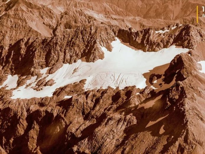 The Rolleston glacier in 1978 New Zealand glaciers show 'worst ever' shrinkage New Zealand glaciers show 'worst ever' shrinkage skynews rolleston glacier new zealand 4305766