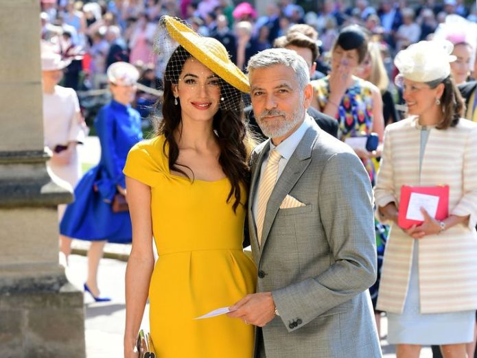 Amal Clooney and George Clooney  Driver says he had 'sun in his eyes' skynews royal wedding george clooney 4314494