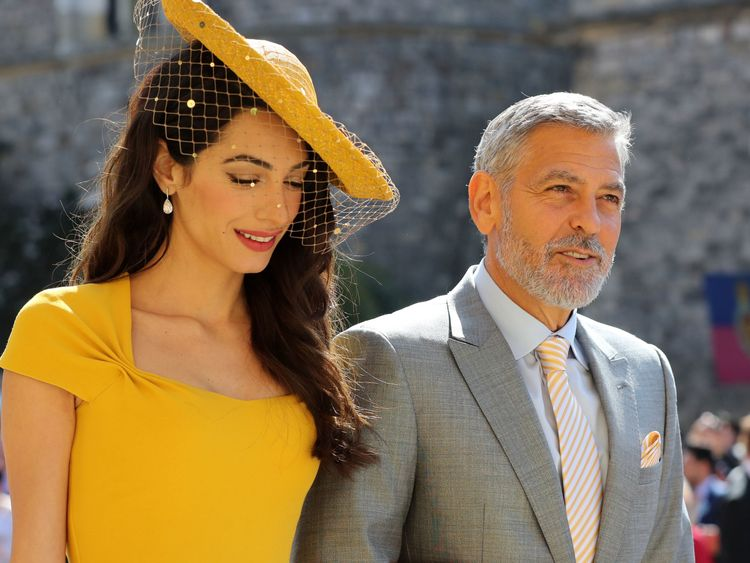 Amal Clooney and George Clooney
