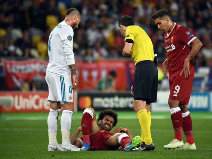 Mo Salah has been injured in the Champions League final Liverpool goalkeeper Loris Karius sent death threats after Champions League blunders Liverpool goalkeeper Loris Karius sent death threats after Champions League blunders skynews salah liverpool 4321428
