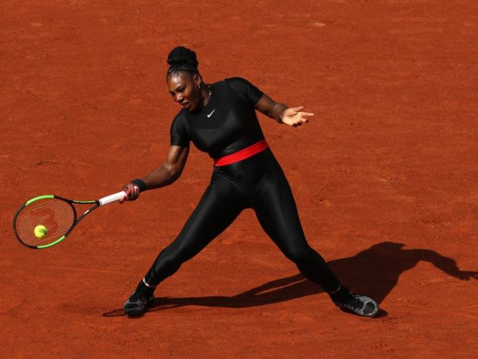 The 36-year-old is playing in the French Open  Alize Cornet brushes off sexism row over shirt change incident skynews serena williams tennis 4324251