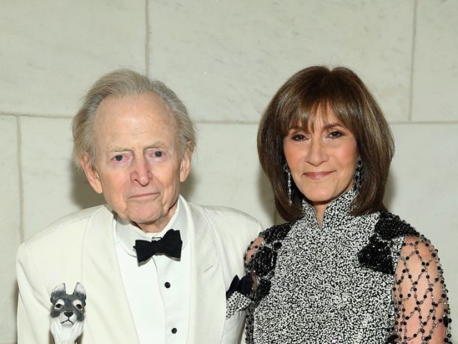 Wolfe and his wife Sheila in New York in 2015