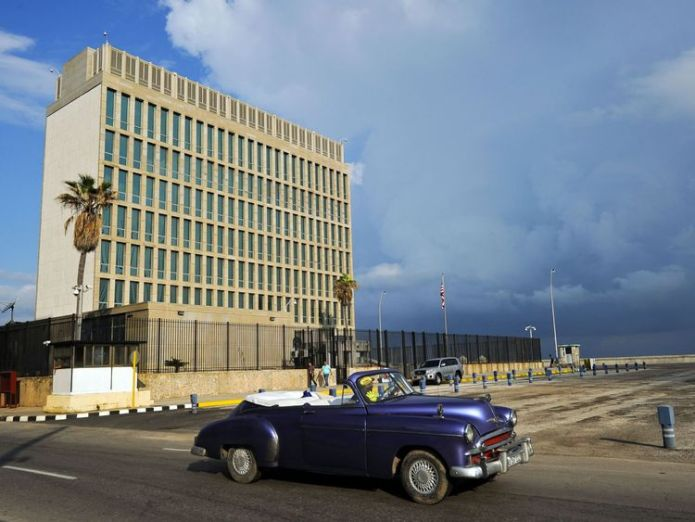 The US recalled non-essential embassy staff from Havana, Cuba, after potential sonic attacks in 2017 US embassy worker in China suffers 'brain injury' amid 'sonic attack' fears US embassy worker in China suffers 'brain injury' amid 'sonic attack' fears skynews us embassy havana 4318364