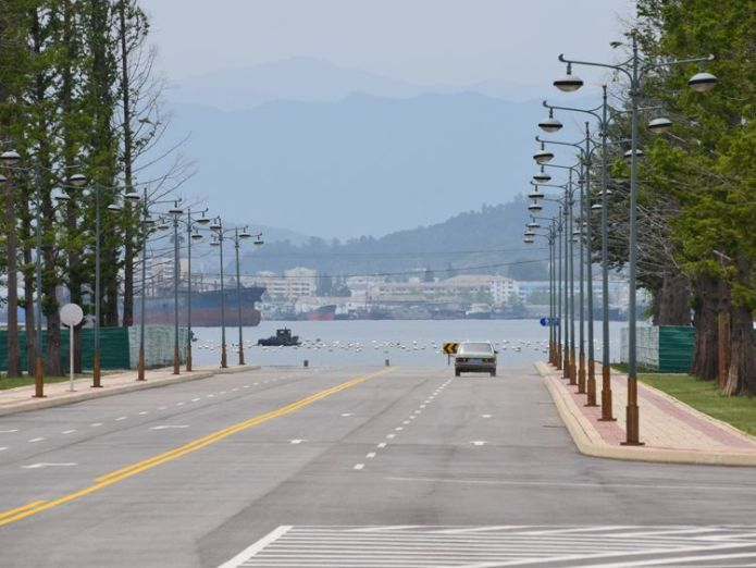 Entering Wonsan city in southeast North Korea Fried turtle and constant monitoring Fried turtle and constant monitoring skynews wonsan north korea 4317178