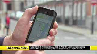 Uber granted 15-month license