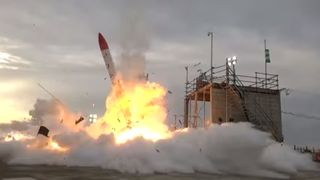 Rocket explosion in Japan. Pic: Interstellar Technologies  Seven times when space rocket launches have failed skynews rocket explosion japan 4349541