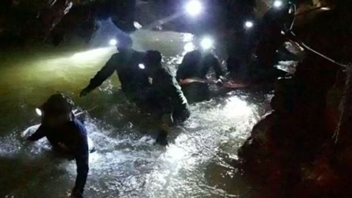 Rescuers say it is still possible the boys are alive  How the rescue operation unfolded skynews thailand cave missing 4349577