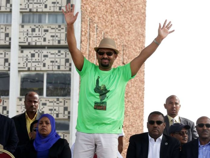 Ethiopian Prime Minister Abiy Ahmed Dozens hurt as attacker tries to throw grenade at Ethiopia prime minister Dozens hurt as attacker tries to throw grenade at Ethiopia prime minister skynews abiy ahmed ethiopia 4343360