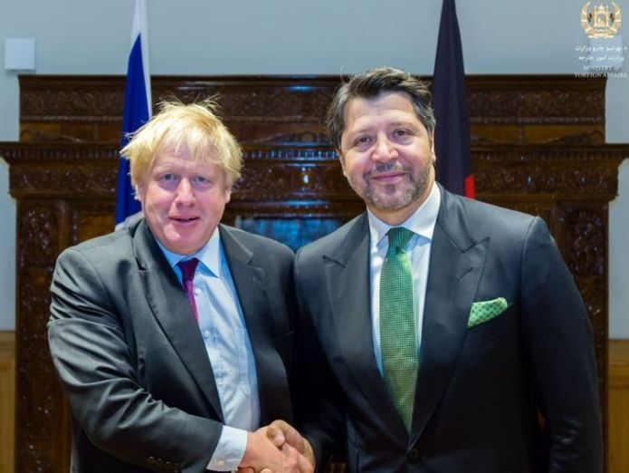 Boris Johnson meeting the Afghan Deputy Minister of Ministry of Foreign Affairs Heathrow Airport third runway backed by MPs in Commons vote Heathrow Airport third runway backed by MPs in Commons vote skynews boris johnson afghanistan 4345428