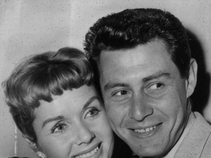 Debbie Reynolds with first husband Eddie Fisher in 1957 Todd Fisher opens up about loss of sister Carrie and mum Debbie Reynolds Todd Fisher opens up about loss of sister Carrie and mum Debbie Reynolds skynews debbie reynolds eddie fisher 4340705