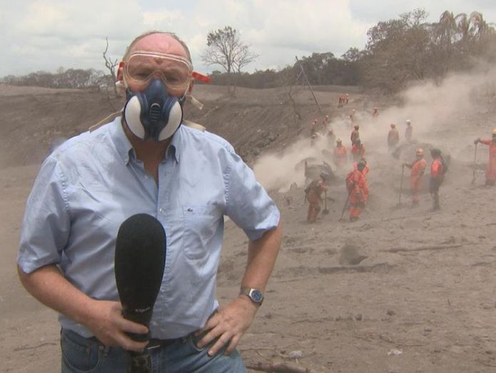 Sky's Ian Woods, who is on the ground in Guatemala Firefighters buried under tonnes of volcanic ash in Guatemala Firefighters buried under tonnes of volcanic ash in Guatemala skynews ian woods guatemala 4329803