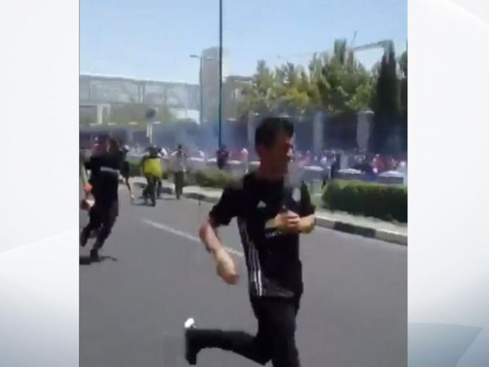 Protesters have been demonstrating in Tehran Iranians protest over plunging economy as Rouhani warns of 'economic war' with US Iranians protest over plunging economy as Rouhani warns of 'economic war' with US skynews iran protest 4346616