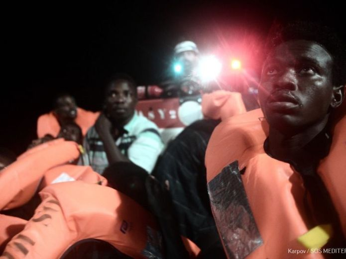 A charity rescue vessel with 629 rescued migrants on board is being refused a port after the new Italian Interior Minister Matteo Salvini refused them. Credit: MSF / SOS Mediterranee  Italy shuts ports to rescue ship carrying over 600 migrants Italy shuts ports to rescue ship carrying over 600 migrants skynews migrants boat italy 4332999