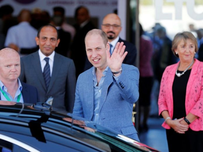 Prince William leaves Luminus Technical University College in Amman, Jordan Prince William arrives in Tel Aviv after recent violence at Gaza border Prince William arrives in Tel Aviv after recent violence at Gaza border skynews prince william jordan 4345551
